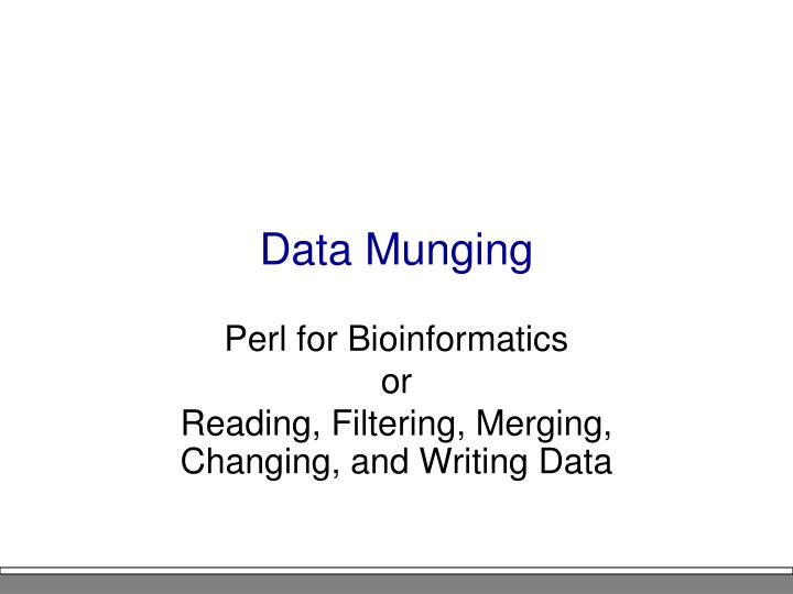Data Munging