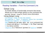 reading variables from the command line