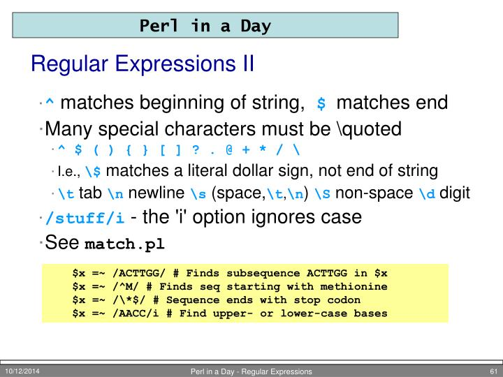 Regular Expressions II