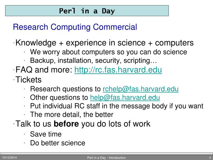 Research computing commercial