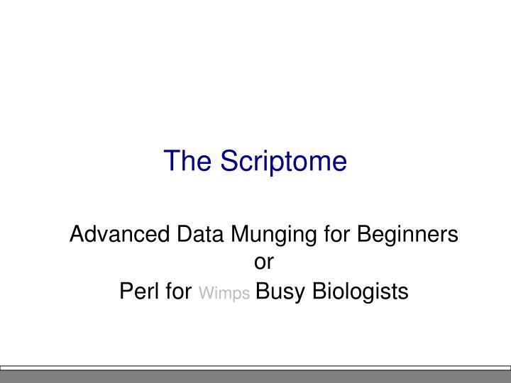 The Scriptome