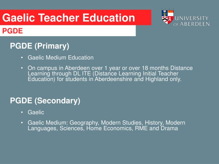 Gaelic Teacher Education