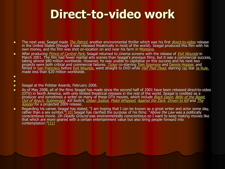 Direct-to-video work