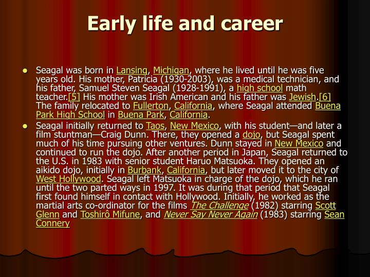 Early life and career