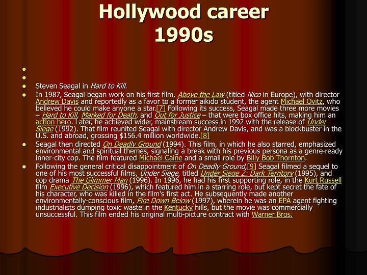 Hollywood career
