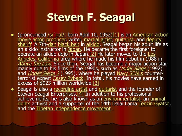 Steven F. Seagal