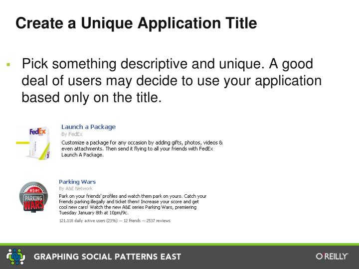 Create a Unique Application Title
