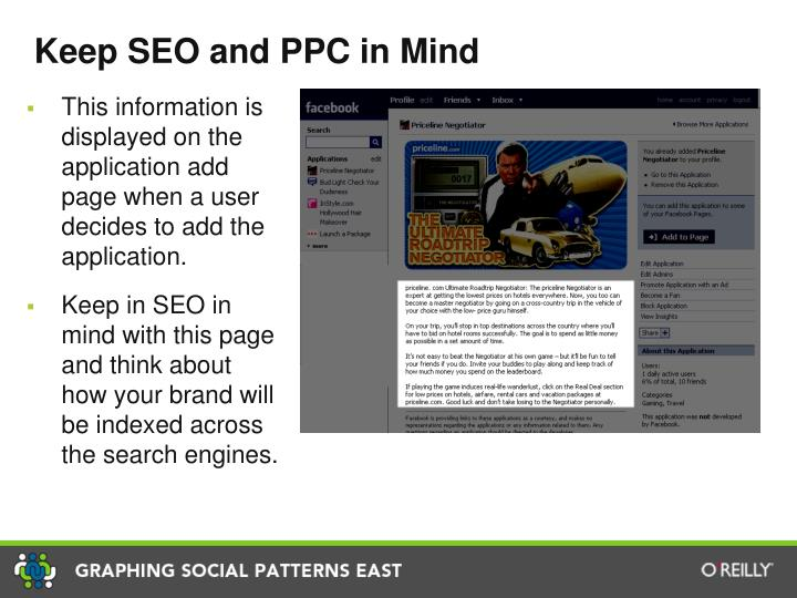 Keep SEO and PPC in Mind