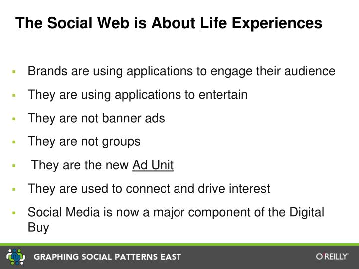 The Social Web is About Life Experiences