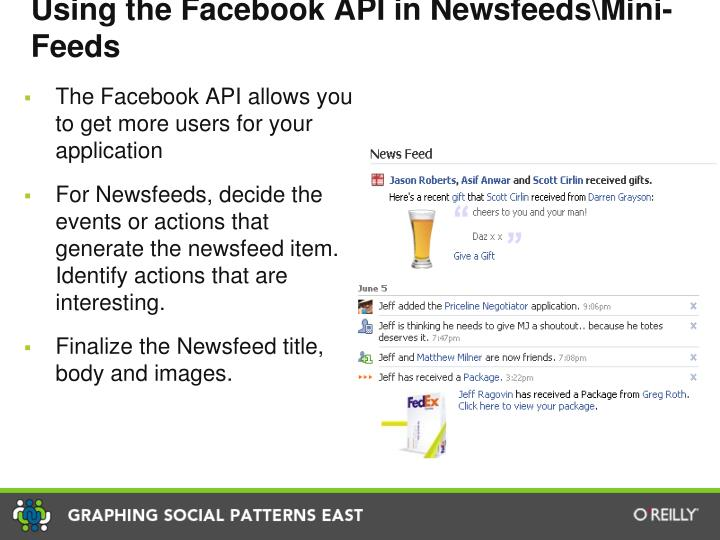 Using the Facebook API in Newsfeeds\Mini-Feeds