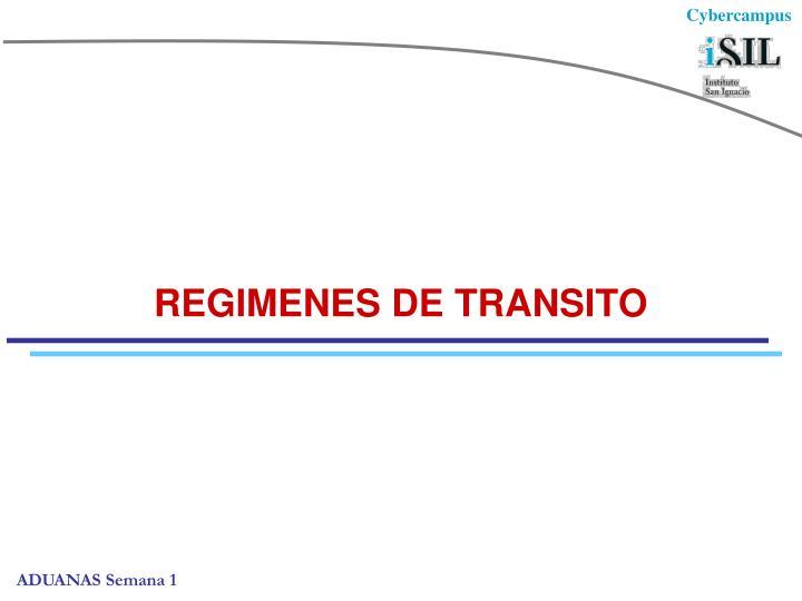 REGIMENES DE TRANSITO
