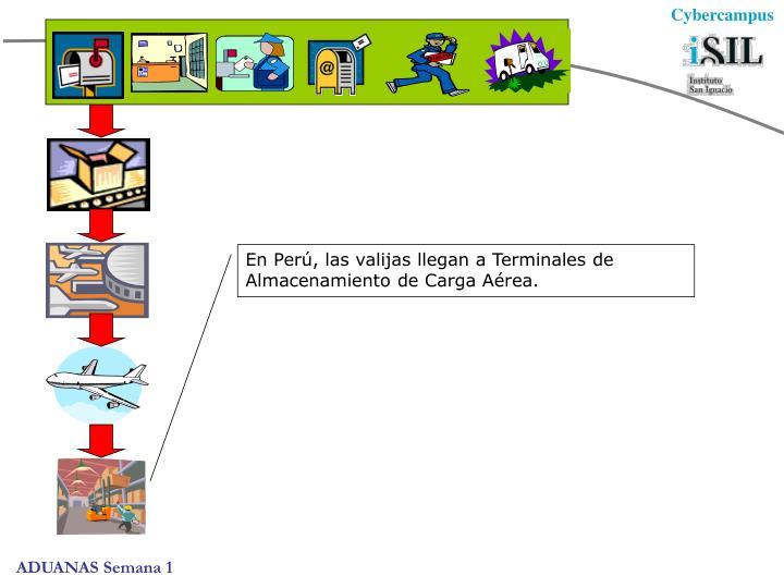 En Perú, las valijas llegan a Terminales de Almacenamiento de Carga Aérea.