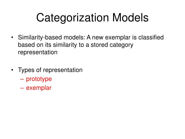 Categorization Models