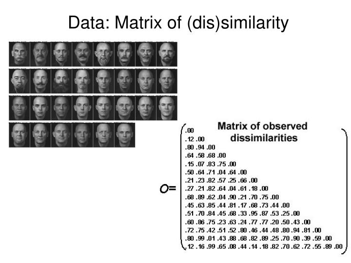 Data: Matrix of (dis)similarity