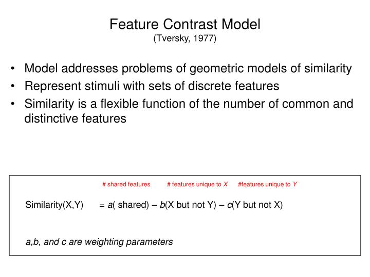 Feature Contrast Model
