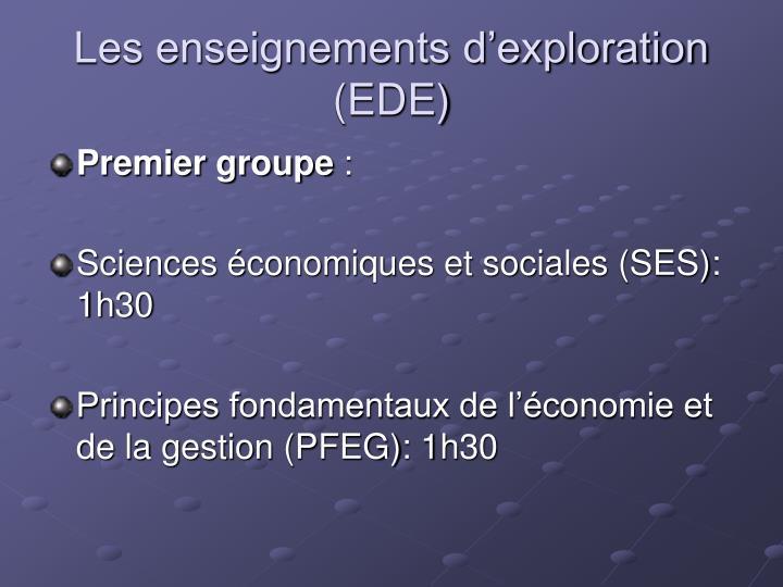 Les enseignements d'exploration (EDE)
