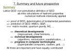 7 summary and future prospective
