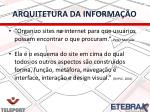 arquitetura da informa o