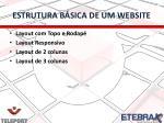estrutura b sica de um website