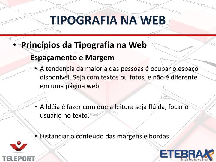 TIPOGRAFIA NA WEB