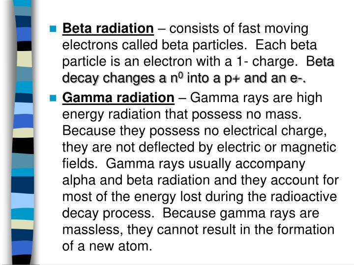 Beta radiation
