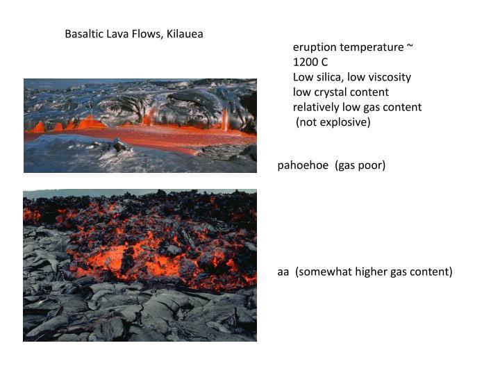 Basaltic Lava Flows, Kilauea
