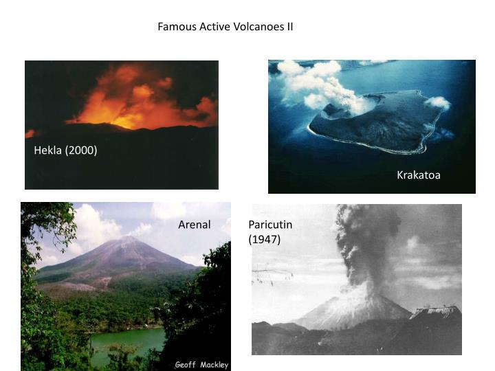 Famous Active Volcanoes