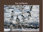 icy surfaces