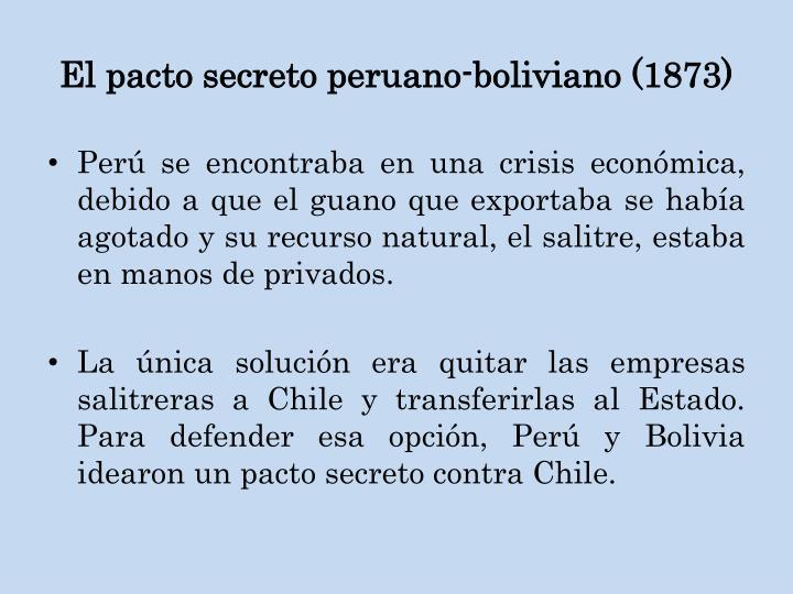 El pacto secreto peruano-boliviano (1873)
