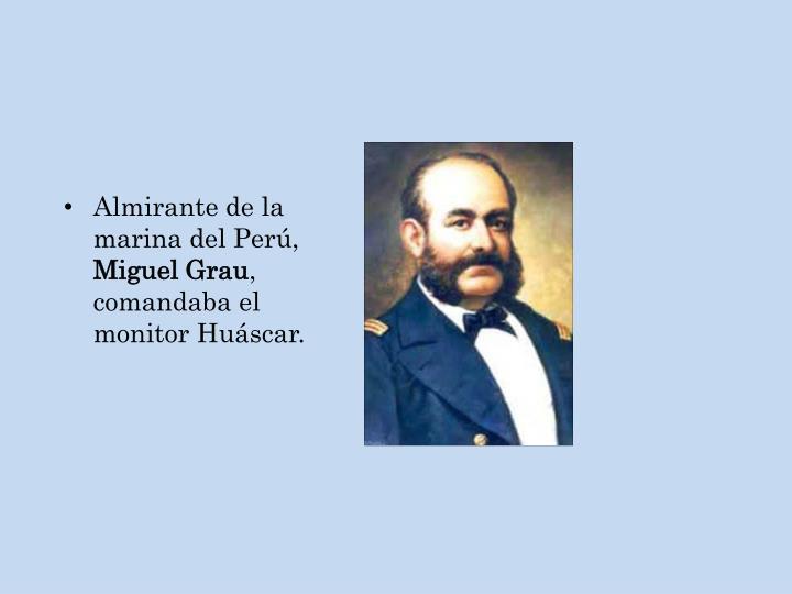 Almirante de la marina del Perú,