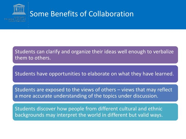 Some Benefits of Collaboration