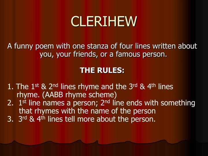 CLERIHEW