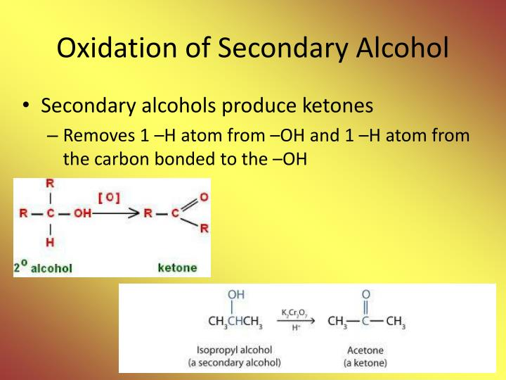 Oxidation of Secondary Alcohol