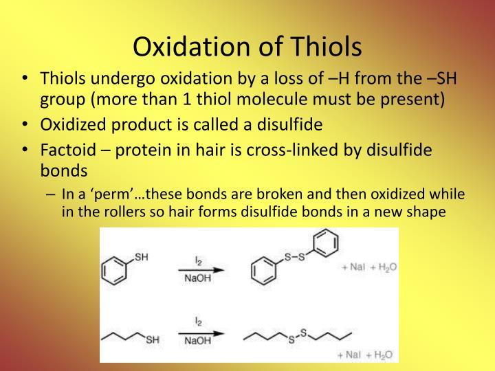 Oxidation of Thiols