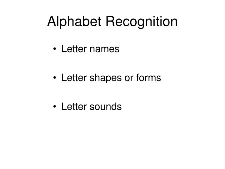 Alphabet Recognition