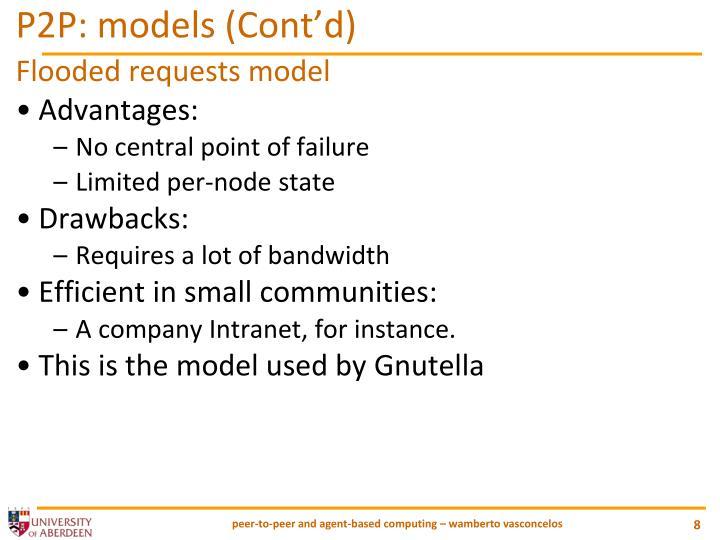 P2P: models (Cont'd)
