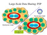 large scale data sharing p2p