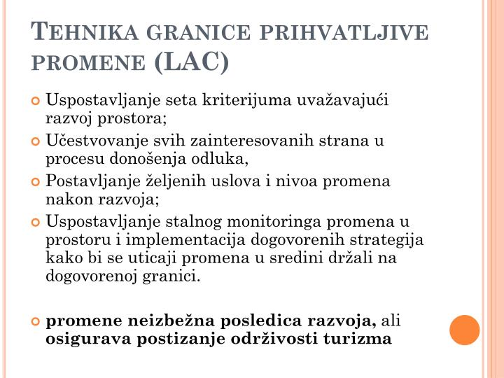 Tehnika granice prihvatljive promene (LAC)