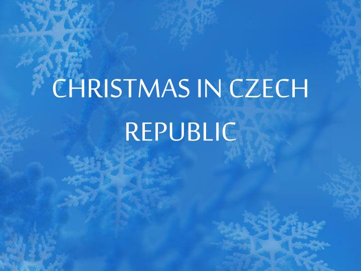 Christmas in czech republic