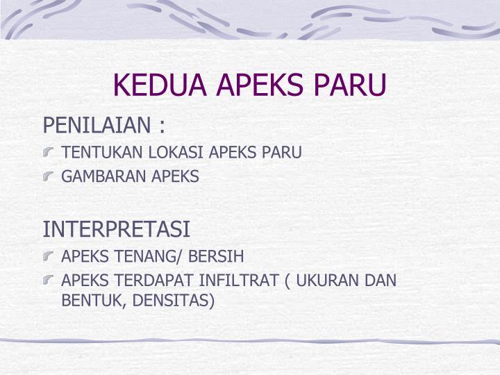 KEDUA APEKS PARU