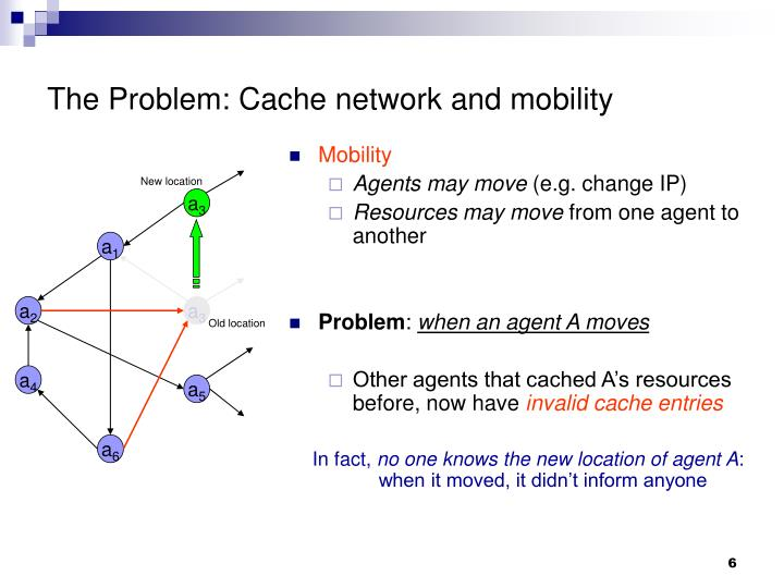 The Problem: Cache network and mobility