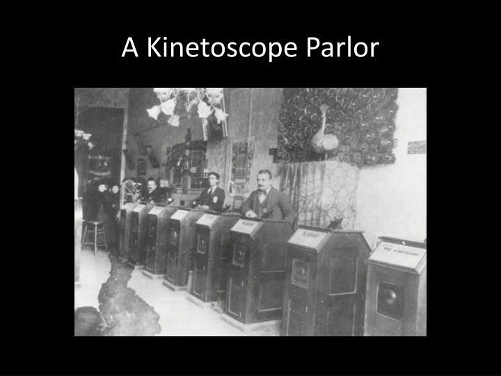 A Kinetoscope Parlor