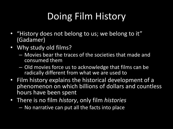 Doing Film History