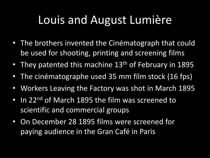 Louis and August Lumière