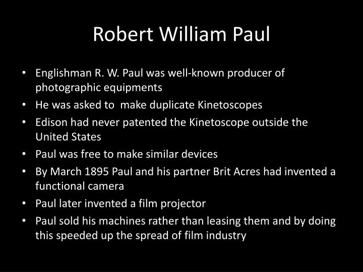 Robert William Paul