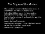 the origins of the movies