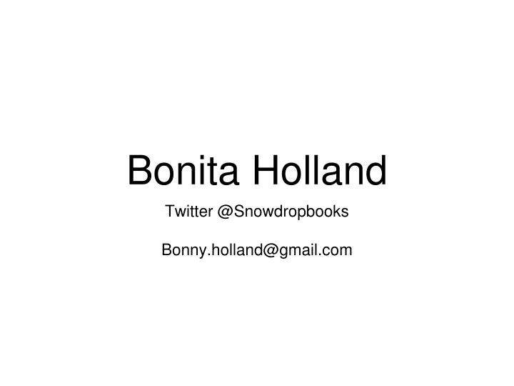 Bonita Holland