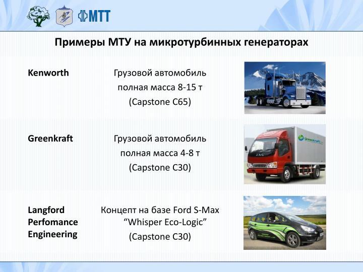 Примеры МТУ на