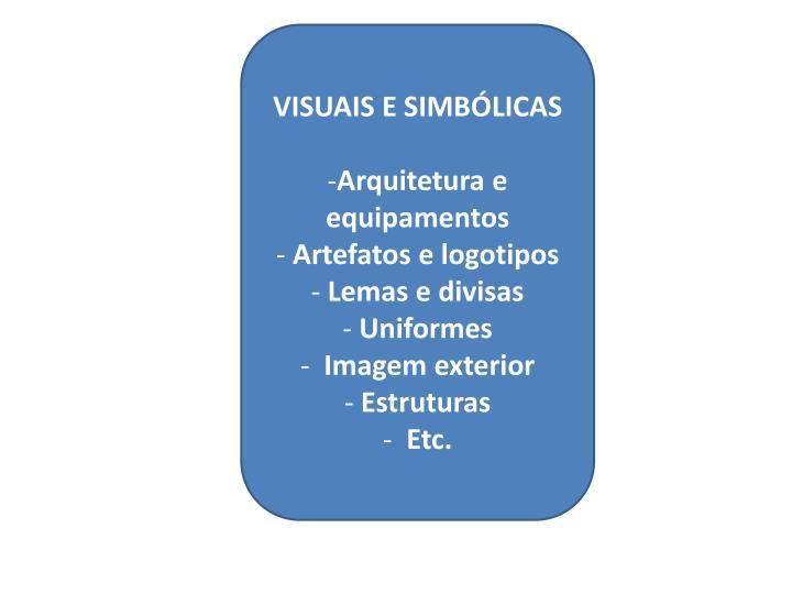 VISUAIS E SIMBÓLICAS