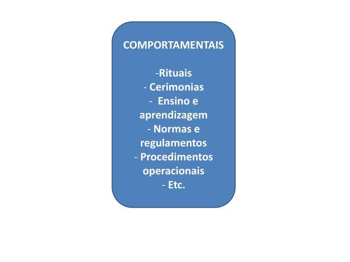 COMPORTAMENTAIS